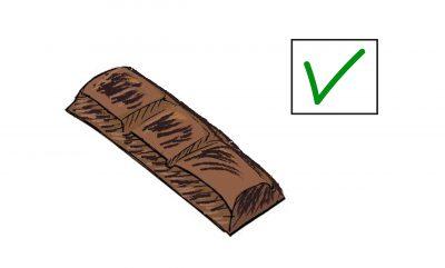 eine Reihe Schokolade