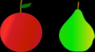 Männer wie Apfel und Frauen wie Birne