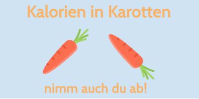 Kalorien in Karotten