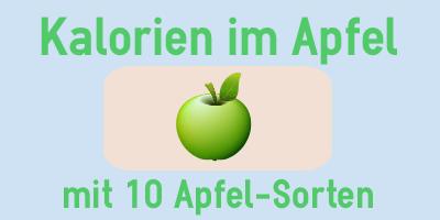 Kalorien im Apfel