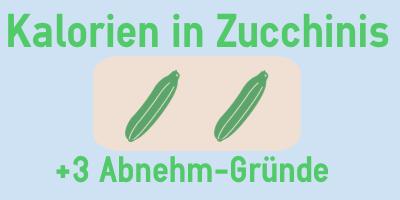 Kalorien in Zucchinis