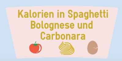 Kalorien in Spaghetti Bolognese und Carbonara