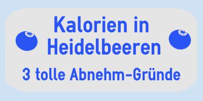 Kalorien in Heidelbeeren (Blaubeeren)
