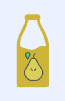 Es stecken 45 Kalorien in Birnen-Saft pro 100 ml
