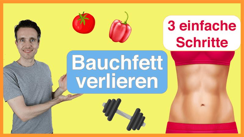 Bauchfett verlieren in 3 einfachen Schritten_Thumbnail
