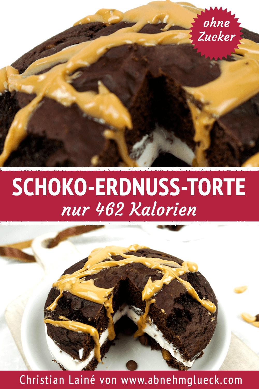 Schoko-Erdnuss-Torte